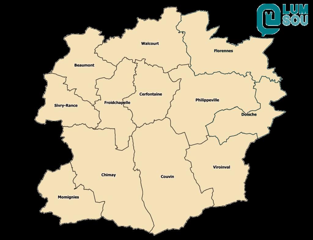 Carte du territoire de la monnaie locale ESEMeur