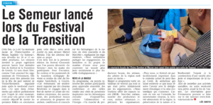 Article de presse : lancement du Semeur